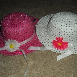 5/$25-Girls Flower sun Hats